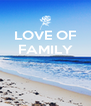 LOVE OF FAMILY    - Personalised Poster A4 size