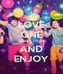 LOVE ONE DIRECTION AND ENJOY - Personalised Poster A4 size