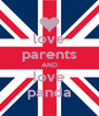 love parents AND love panda - Personalised Poster A4 size