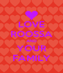 LOVE ROOSSA AND YOUR FAMILY - Personalised Poster A4 size