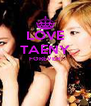 LOVE TAENY FOREVER   - Personalised Poster A4 size