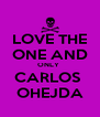 LOVE THE ONE AND ONLY  CARLOS  OHEJDA - Personalised Poster A4 size