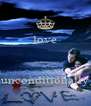 love    unconditionally - Personalised Poster A4 size