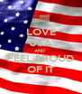 LOVE USA AND  FEEL PROUD OF IT - Personalised Poster A4 size