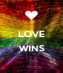 LOVE  WINS  - Personalised Poster A4 size