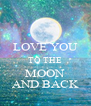 LOVE YOU TO THE MOON AND BACK - Personalised Poster A4 size