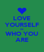 LOVE YOURSELF IN WHO YOU ARE - Personalised Poster A4 size