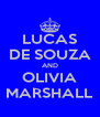 LUCAS DE SOUZA AND OLIVIA MARSHALL - Personalised Poster A4 size