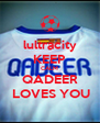 lultracity KEEP CALM QADEER  LOVES YOU - Personalised Poster A4 size