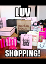 LUV SHOPPING! - Personalised Poster A4 size