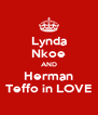 Lynda Nkoe AND Herman Teffo in LOVE - Personalised Poster A4 size