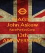 MAGIC John Askew RavePartiesCorp 13th ANNIVERSARY - Personalised Poster A4 size