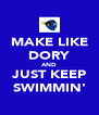 MAKE LIKE DORY AND JUST KEEP SWIMMIN' - Personalised Poster A4 size
