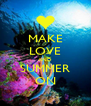 MAKE LOVE AND SUMMER ON - Personalised Poster A4 size