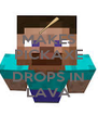 MAKES PICKAXE  DROPS IN LAVA - Personalised Poster A4 size