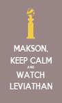MAKSON, KEEP CALM AND WATCH LEVIATHAN - Personalised Poster A4 size