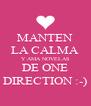 MANTEN LA CALMA Y AMA NOVELAS DE ONE DIRECTION :-) - Personalised Poster A4 size