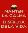 MANTEN LA CALMA Y DISFRUTA DE LA VIDA - Personalised Poster A4 size