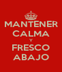 MANTENER CALMA Y FRESCO ABAJO - Personalised Poster A4 size