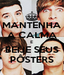 MANTENHA A CALMA E BEIJE SEUS PÔSTERS - Personalised Poster A4 size