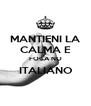 MANTIENI LA CALMA E FOCA NO ITALIANO  - Personalised Poster A4 size
