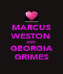 MARCUS WESTON AND GEORGIA GRIMES - Personalised Poster A4 size