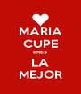 MARIA CUPE ERES LA MEJOR - Personalised Poster A4 size
