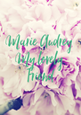 Marie Audrey  My lovely  Friend - Personalised Poster A4 size