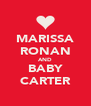 MARISSA RONAN AND BABY CARTER - Personalised Poster A4 size
