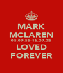 MARK MCLAREN 05.09.55-16.07.05 LOVED FOREVER - Personalised Poster A4 size