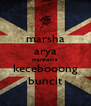 marsha arya marsharya kecebooong buncit - Personalised Poster A4 size