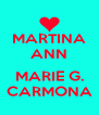 MARTINA ANN  MARIE G. CARMONA - Personalised Poster A4 size