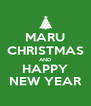 MARU CHRISTMAS AND HAPPY NEW YEAR - Personalised Poster A4 size