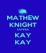 MATHEW KNIGHT LOVES KAY KAY - Personalised Poster A4 size