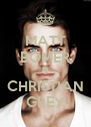 MATT BOMER IS CHRISTIAN GREY - Personalised Poster A4 size