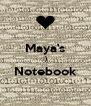 Maya's :) Notebook  - Personalised Poster A4 size
