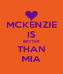 MCKENZIE IS BETTER THAN MIA - Personalised Poster A4 size