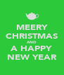 MEERY CHRISTMAS AND A HAPPY NEW YEAR - Personalised Poster A4 size