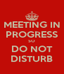 MEETING IN PROGRESS SO DO NOT DISTURB - Personalised Poster A4 size