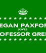 * * * * * * * * * * MEGAN PAXFORD LOVES PROFESSOR GREEN * * * * * * * * * * - Personalised Poster A4 size