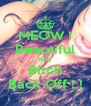 MEOW ! Beautiful Kitty Bitch Back Off ! ! - Personalised Poster A4 size