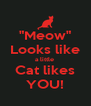 """Meow"" Looks like a little  Cat likes YOU! - Personalised Poster A4 size"
