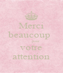 Merci beaucoup         pour votre attention - Personalised Poster A4 size