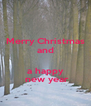 Merry Christmas and   a happy   new year - Personalised Poster A4 size
