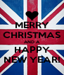 MERRY CHRISTMAS AND A HAPPY NEW YEAR! - Personalised Poster A4 size