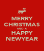 MERRY CHRISTMAS AND A HAPPY NEWYEAR - Personalised Poster A4 size