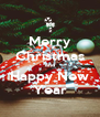 Merry Christmas and Happy New Year - Personalised Poster A4 size