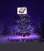 Merry Christmas AND Happy New Year! - Personalised Poster A4 size