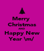 Merry  Christmas AND Happy New Year \m/ - Personalised Poster A4 size