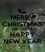MERRY CHRISTMAS AND HAVE A HAPPY NEW YEAR - Personalised Poster A4 size